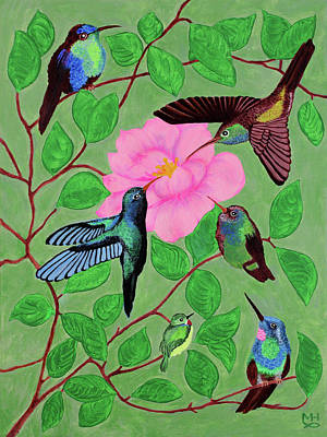 Painting - Hummingbird Cafe by Marilyn Hilliard