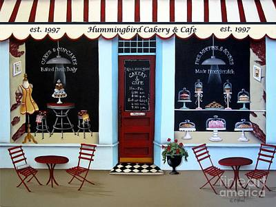 Cafes Painting - Hummingbird Cakery And Cafe by Catherine Holman