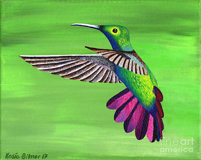 Painting - Hummingbird Delight by Kasia Bitner