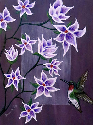 Painting - Hummingbird Delight by Teresa Wing
