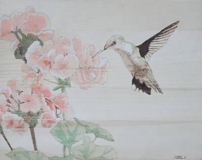 Pyrography Pyrography - Hummingbird by Dominic Abela