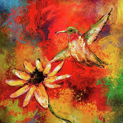 Painting - Hummingbird Energy by Jai Johnson
