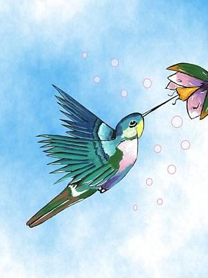 Mixed Media - Hummingbird Flutter by Kathleen Sartoris