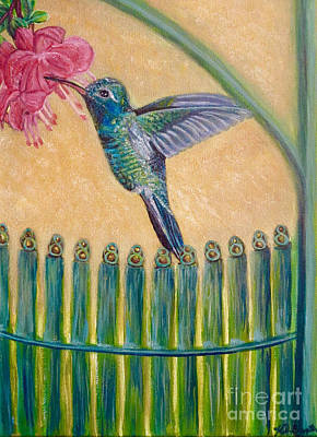 Painting - Hummingbird Garden Gate Cropped by Kimberlee Baxter