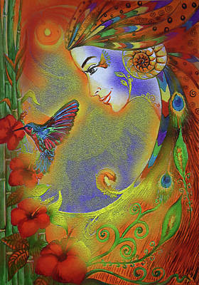 Painting - Hummingbird Glow - Richa Malik by Harsh Malik