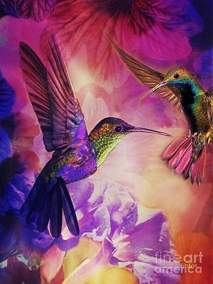 Digital Art - Hummingbird Harmony by Maria Urso