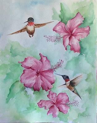 Painting - Hummingbird Heaven by Ellen Canfield