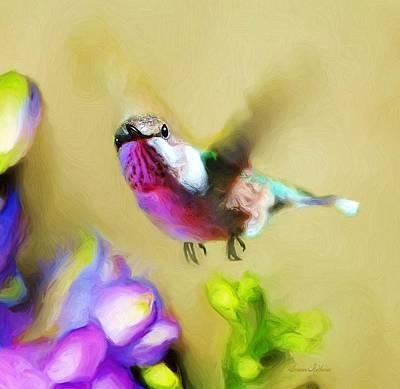 Hummingbird Hello Print by Susanna  Katherine