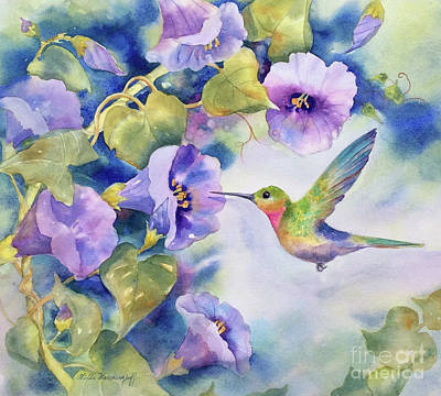 Painting - Hummingbird by Hilda Vandergriff
