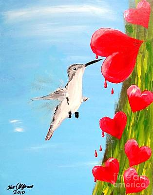 Painting - Hummingbird In Love by Teo Alfonso
