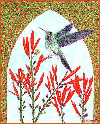 Painting - Hummingbird In Opening by Lise Winne