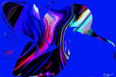 Bird Digital Art - Hummingbird In The Blue. by Abstract Angel Artist Stephen K