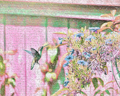 Photograph - Hummingbird In The Garden by Kerri Farley