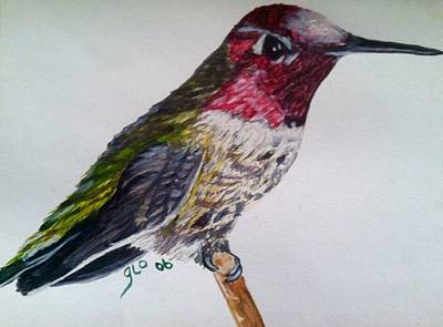 Namaste With Pixels - Hummingbird in Waiting by Gloria Houlne