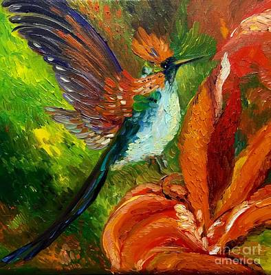 Painting - Hummingbird by Irene Pomirchy