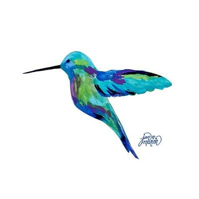 Painting - Hummingbird by Jan Marvin