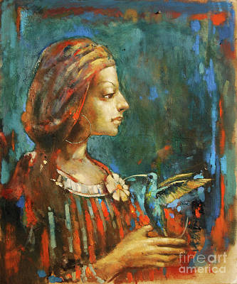 Hummingbird Jewel Art Print by Michal Kwarciak