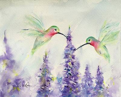 Painting - Hummingbird Joy by Bette Orr