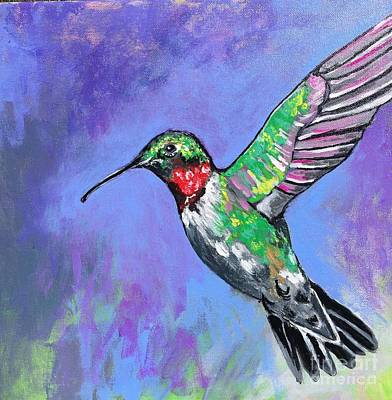 Painting - Hummingbird by Kim Heil