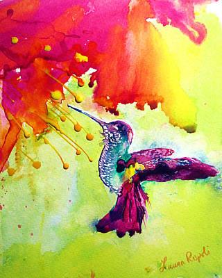 Painting - Hummingbird by Laura Rispoli
