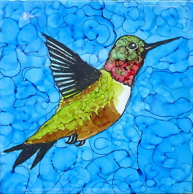 Painting - Hummingbird by Laurie Anderson