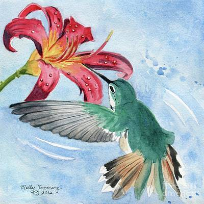 Painting - Hummingbird by Melly Terpening
