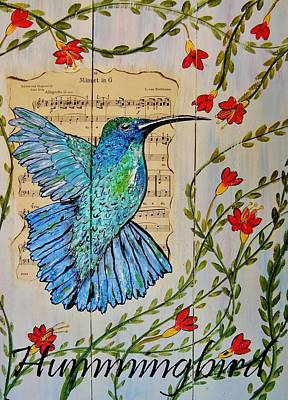 Painting - Hummingbird Minuet In G by Cindy Micklos