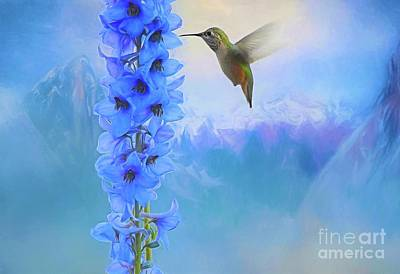 Digital Art - Hummingbird Mountains by Suzanne Handel