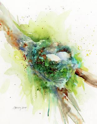 Painting - Hummingbird Nest by Christy Lemp