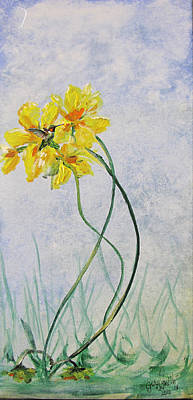 Painting - Hummingbird On Yellow Flower by Gary Smith