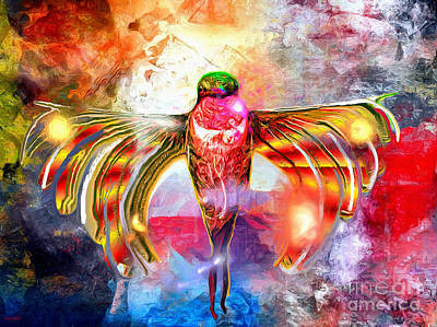 Painting - Hummingbird Painted by Daniel Janda