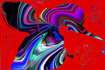 Bird Digital Art - Hummingbird Passion. by Abstract Angel Artist Stephen K