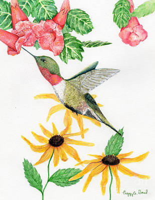 Painting - Hummingbird by Peggy A Borel