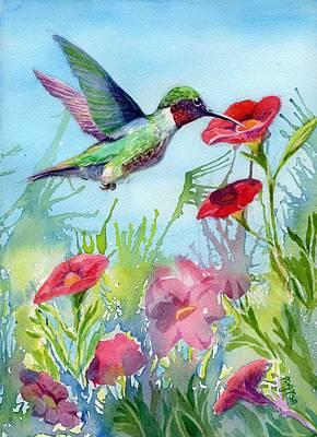 Painting - Hummingbird by Ping Yan