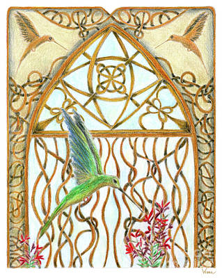 Painting - Hummingbird Sanctuary by Lise Winne