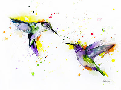 Hummingbird Mixed Media - Hummingbird by Slavi Aladjova
