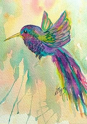 Painting - Hummingbird Sonata by Ellen Levinson