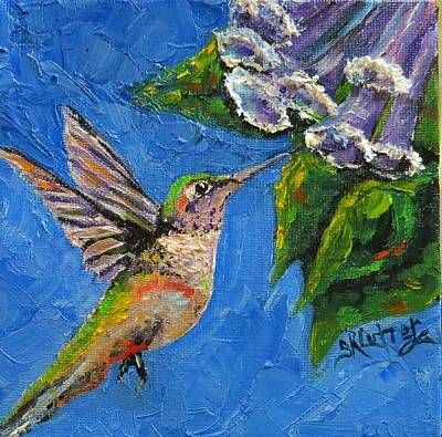 Painting - Hummingbird Sugar by Sandra Cutrer