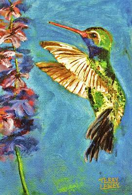 Hummingbird Print by Terry Lewey