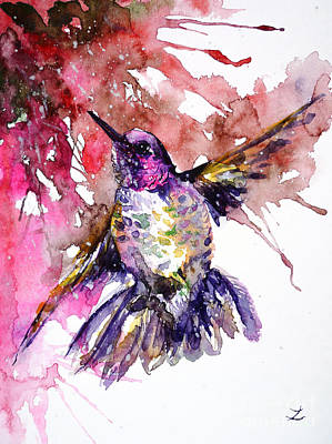 Painting - Hummingbird by Zaira Dzhaubaeva