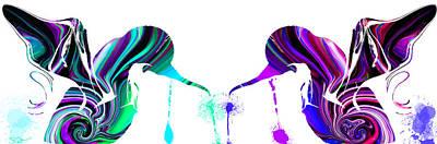 Hummingbird Digital Art - Hummingbirds Splashed By Colors by Abstract Angel Artist Stephen K