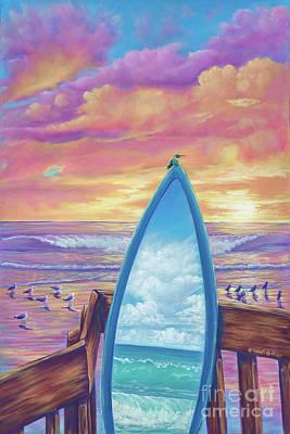 Painting - Hummingboard by Elisabeth Sullivan