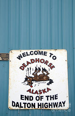 Dalton Highway Photograph - Humor In Deadhorse Alaska by Nancy Hoyt Belcher