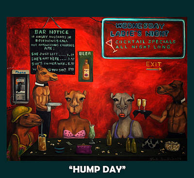 Hump Painting - Hump Day With Lettering by Leah Saulnier The Painting Maniac
