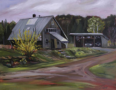 Painting - Humpals Barn by Nancy Griswold