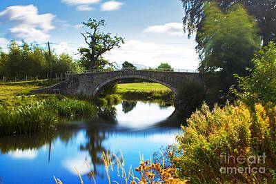 North Wales Digital Art - Humpback Bridge  by Chris Evans