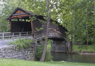 Covington Photograph - Humpback Covered Bridge In Covington Virginia by Brendan Reals