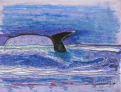 Humpback Hello Art Print by James SheppardIII