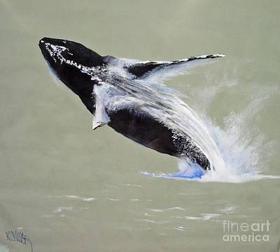 Painting - Humpback Off Kihei Maui by Paul Miller