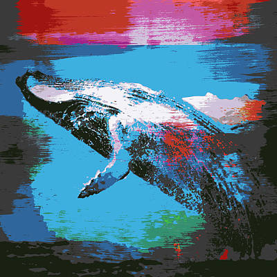 Whale Mixed Media - Humpback Wale V1 by Brandi Fitzgerald